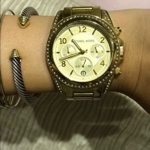 Gold Michael Kors runway bracelet watch